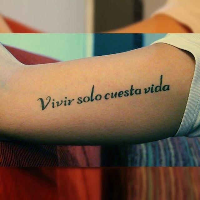 Tatouage phrase espagnol homme mod les et exemples - Tatouage famille homme ...