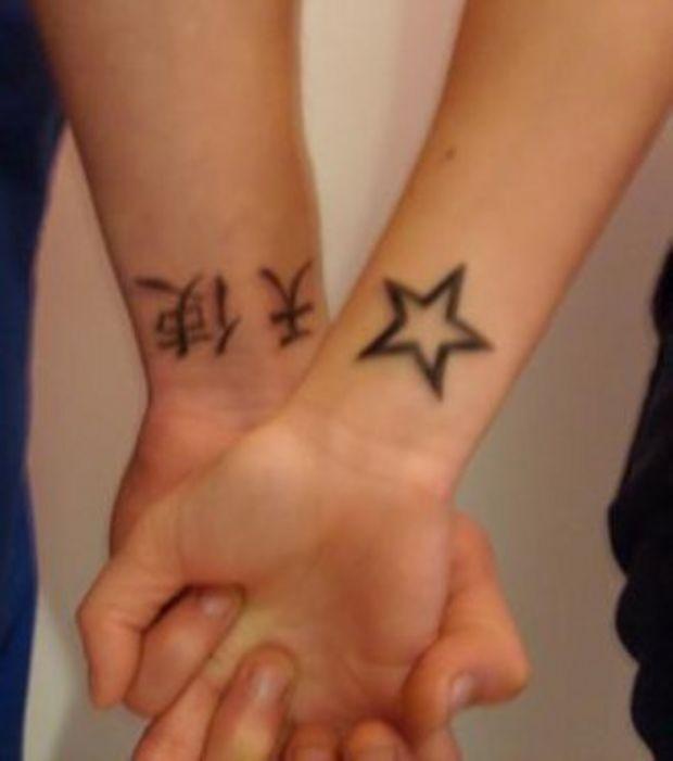 tatouage poignet femme etoile