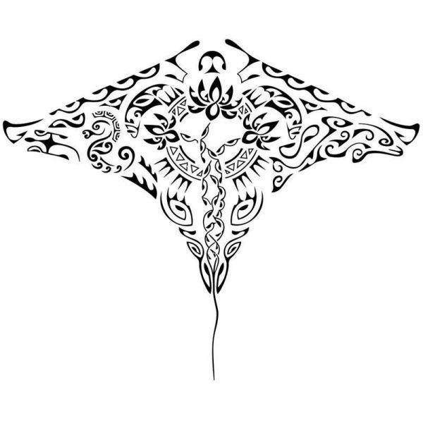 Tatouage polyn sien raie manta mod les et exemples - Dessin raie manta ...