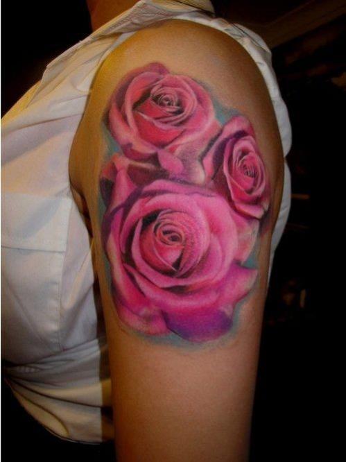 Tatouage Rose Omoplate Modeles Et Exemples