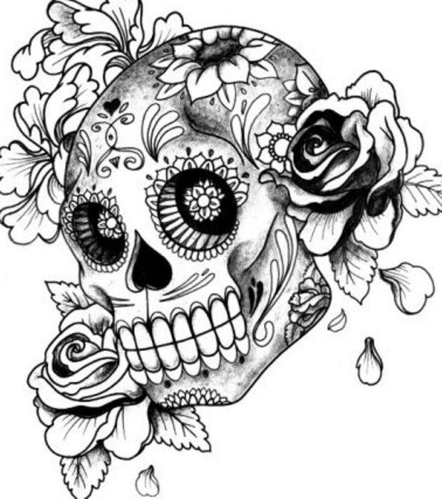 tatouage t te de mort gothique mod les et exemples. Black Bedroom Furniture Sets. Home Design Ideas