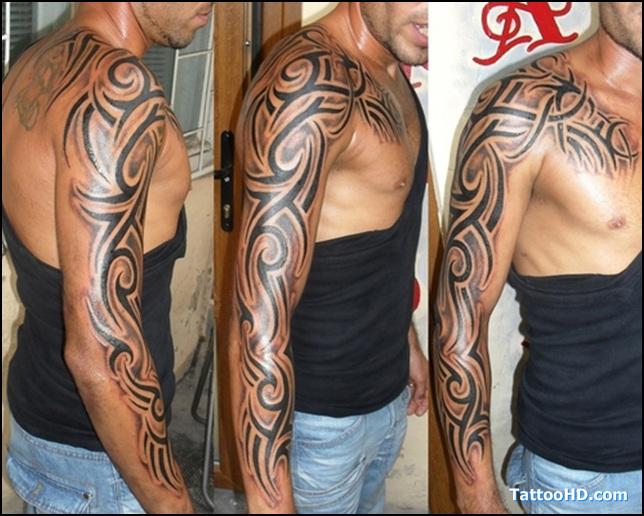 Tatouage Tribal Bras Entier Homme Modeles Et Exemples