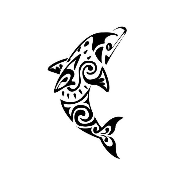 tatouage tribal dauphin