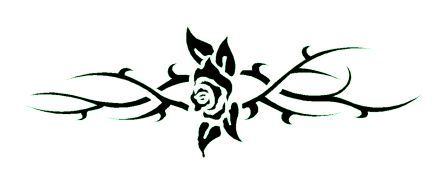 tatouage tribal et fleur