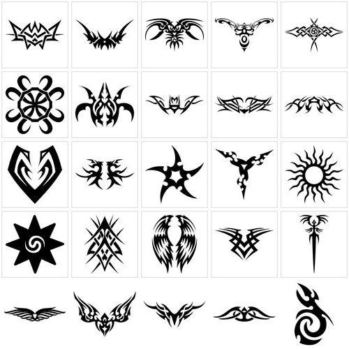 tatouage tribal lettre mod les et exemples. Black Bedroom Furniture Sets. Home Design Ideas