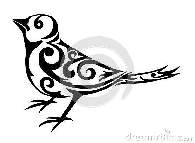 tatouage tribal oiseau mod les et exemples. Black Bedroom Furniture Sets. Home Design Ideas