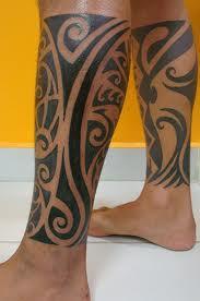 Tatouage Tribal Polynesien Mollet Modeles Et Exemples
