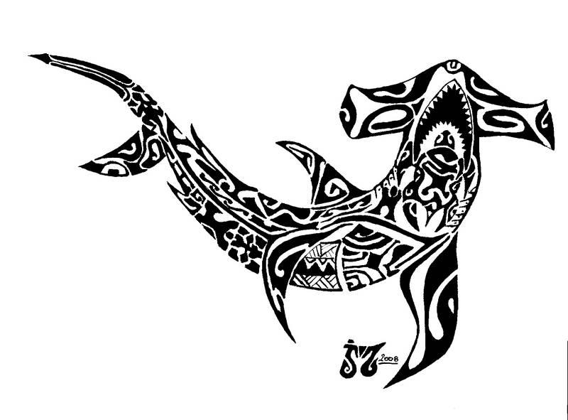 tatouage tribal requin mod les et exemples. Black Bedroom Furniture Sets. Home Design Ideas