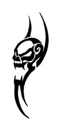 tatouage tribal tête de mort