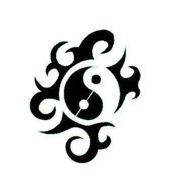 tatouage tribal ying yang mod les et exemples. Black Bedroom Furniture Sets. Home Design Ideas