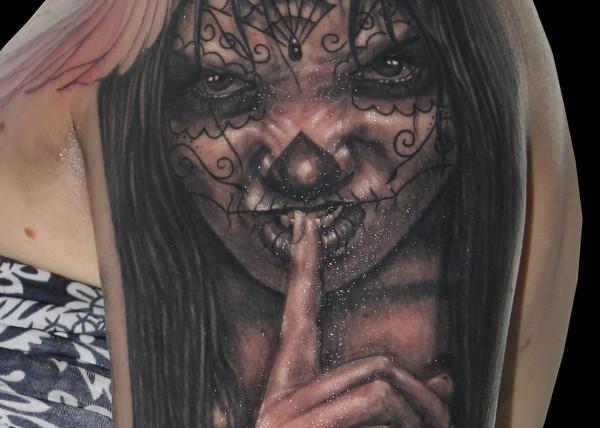 Tatouage Visage Ange Et Demon Modeles Et Exemples