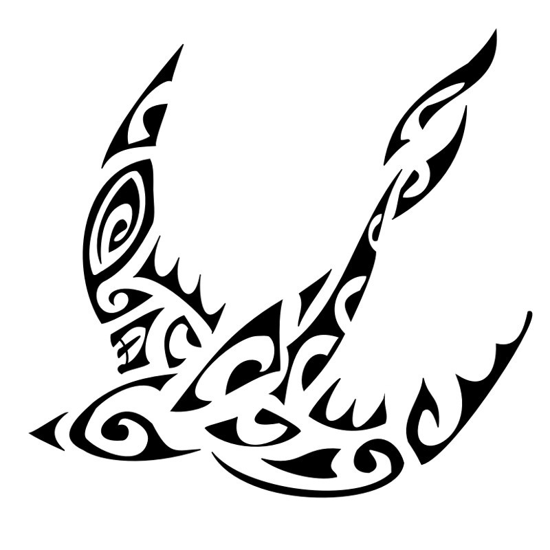 tattoo hirondelle tribal